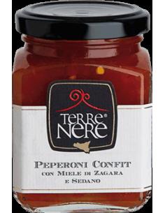 Peperoni confit con miele di zagara e sedano