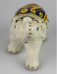 Elefantino in Ceramica di Caltagirone