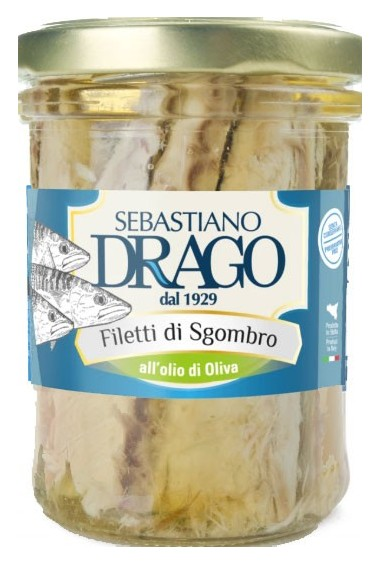 Filetti di Sgombro all'olio d'oliva 200g
