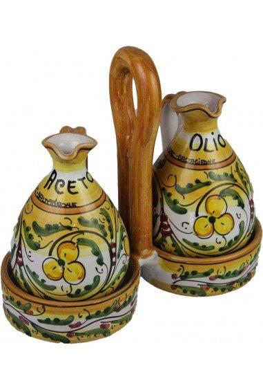 Ampolle Olio e Aceto Ceramica di Caltagirone