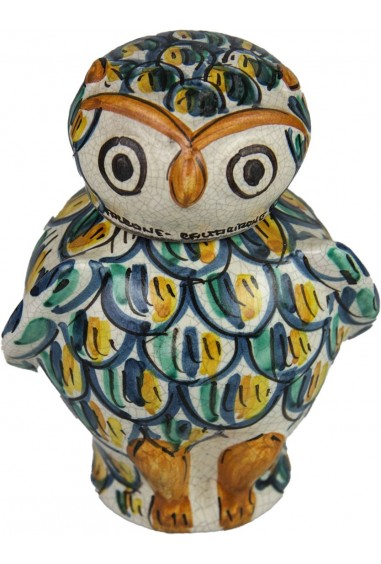 Gufo in Ceramica di Caltagirone