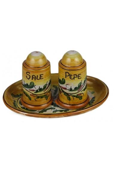Coppia Sale e Pepe in Ceramica di Caltagirone