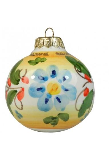 Palla di Natale fondo bianco h 8 cm
