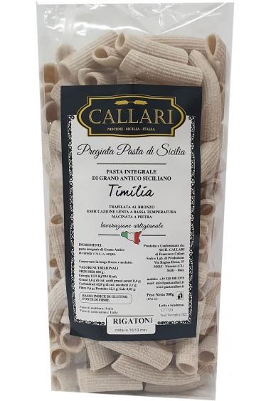 Rigatoni di grano antico integrale Timilia 500g