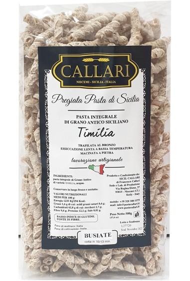 Busiate di grano antico integrale Timilia 500g