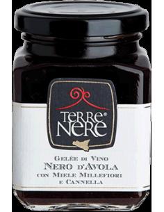 Gelée di vino Nero d'Avola con miele millefiori e cannella