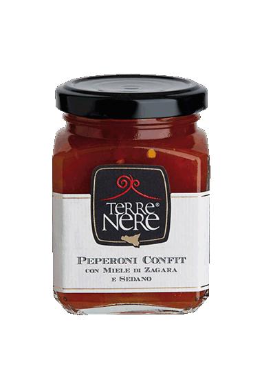 Peperoni confit con miele di zagara e sedano 120 gr