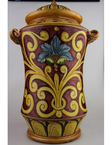 Albarello fondo scuro in Ceramica di Caltagirone