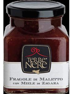 Fragole di Maletto con miele di zagara 240g